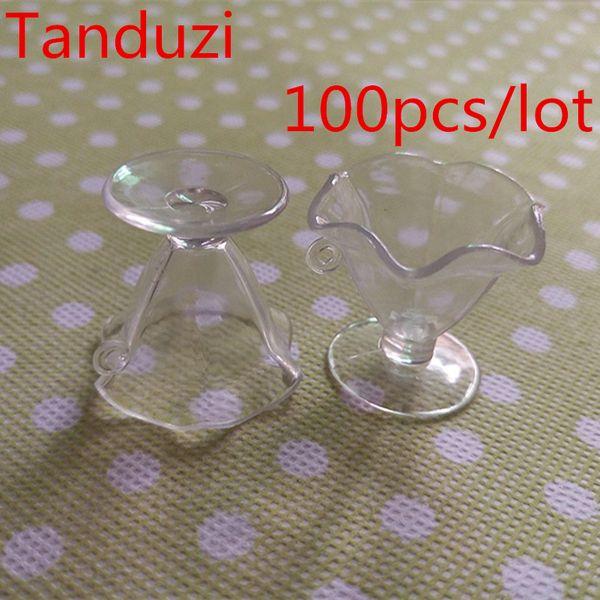 Sal toptan Tanduzi 100 adet Toptan Japon Kawaii Plastik Simülasyon Şeffaf Parfe Dondurma Fincan DIY Ev Deco Parçaları ...
