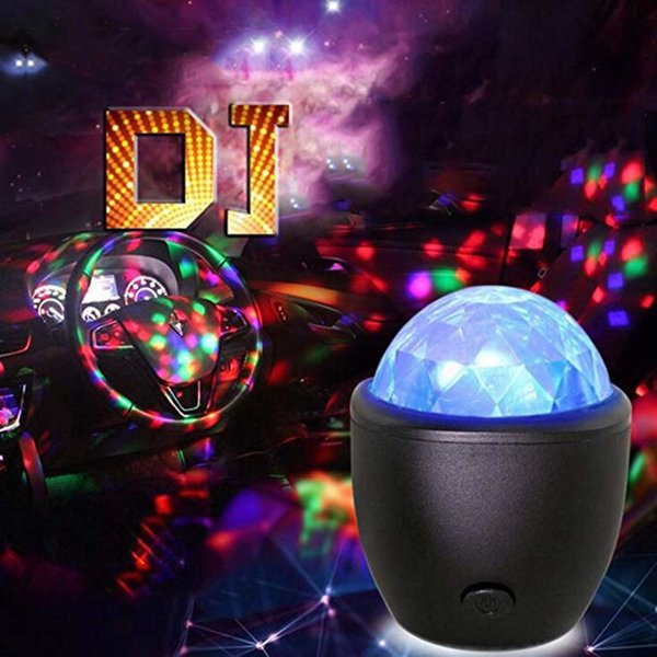 Disco Ball DJ Light Party Lights Club Light Colorful Light Up Crystal Magic Ball Lights with USB Charging Voice Control for Wedding KTV Kara