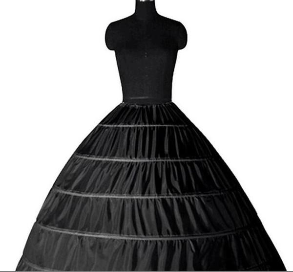 Lace Edge 6 Hoop Petticoat Underskirt For Ball Gown Wedding Dress 110cm Diameter Underwear Crinoline Wedding Accessories