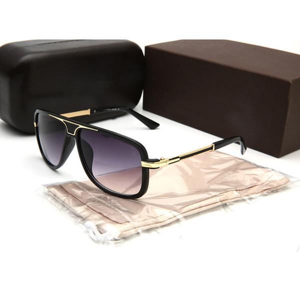 diseño de calidad 59e61 cb8ab Compre 2018 Nueva Marca Gafas De Sol De Moda Hombres Mujeres Verano Gafas  De Sol De Lujo Protección UV400 Deporte Gafas De Sol Gafas De Sol Para ...
