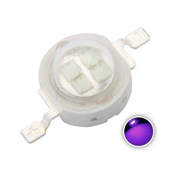 pcs High Power Led Chip 5W Purple Ultraviolet SMD COB Light Emitter Components Diode 5 W Ultra Violet Bulb Lamp Beads DIY Lighting