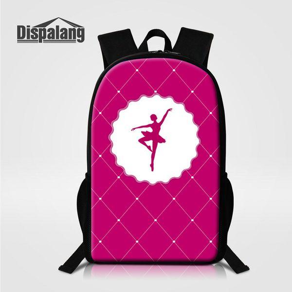 Cute Dancing Ballet Girls Toe Pattern School Bags For Girls Women Fashion Outdoor Shoulder Bag 16 Inch Large Backpack To School Lady Rugtas
