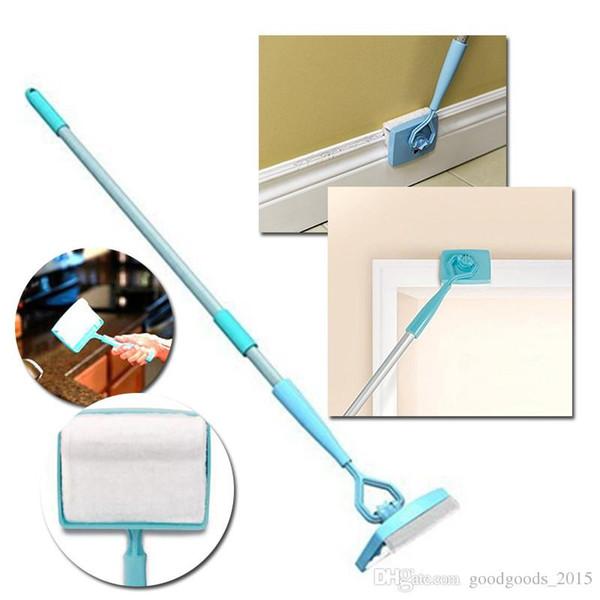 Süpürgelik Buddy Sadece Glide Uzatılabilir Mikrofiber Temizlik Ürünü Fiber Temizleme Fırçası Teleskopik Tembel Paspas c513