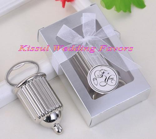 (20 Pieces/lot) Metal Wedding Favors of Baby Bottle Design bottle opener for silver wedding and Baby shower party favors