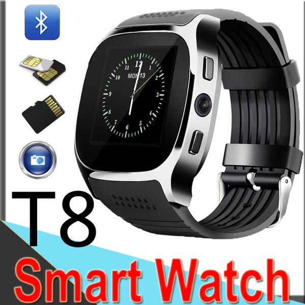 T8 Smart Pedometer Watches Bluetooth Support SIM &TF Card with Camera Sync Call Message Men Women Smart Band xt10