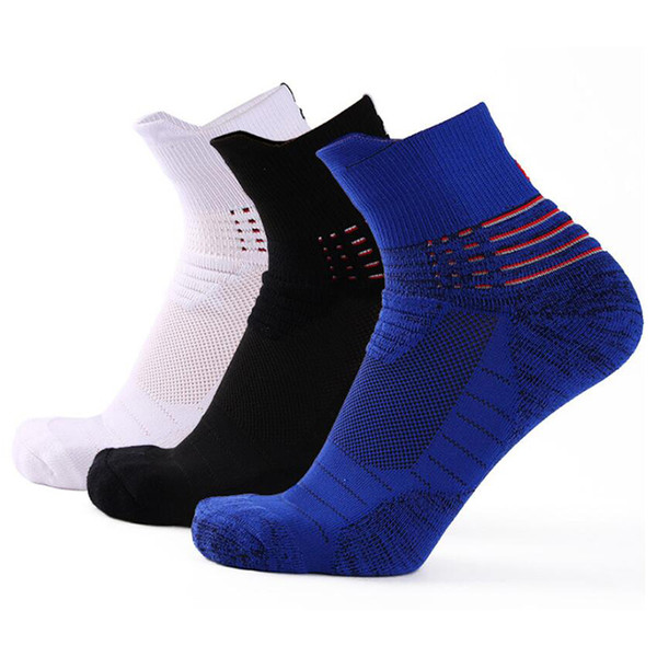 Sport Socks Running Jogging Hiking Cycling Thick Breathable Non slip Basketball Football Soccer Socks Calcetines Ciclismo Hombre