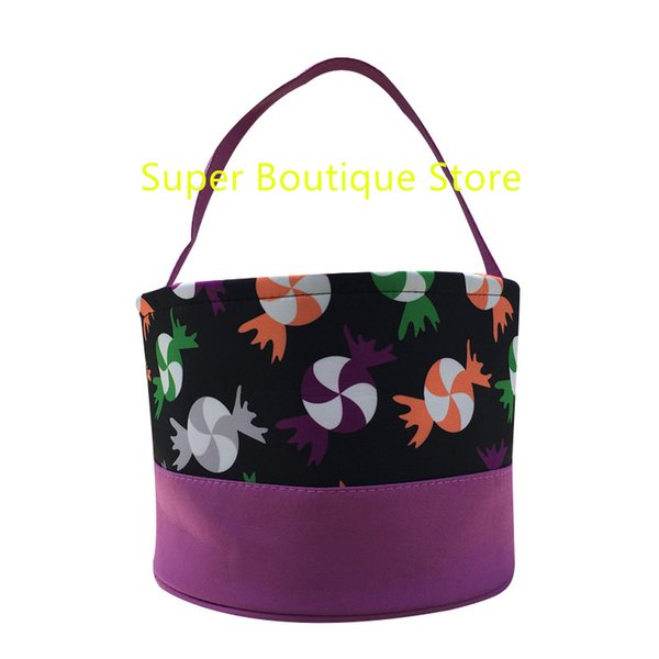 New arrival 12 styles good quality new arrival latest design halloween bucket gift tote bags kids treat or trick halloween bucket