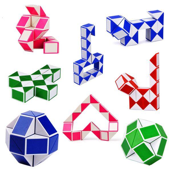 Mini Magic Cube Kids Creativo 3D Puzzle Snake Shape Giochi Giocattoli 3D Cube Puzzle Twist Puzzle Toys Giochi di intelligenza casuale Regali