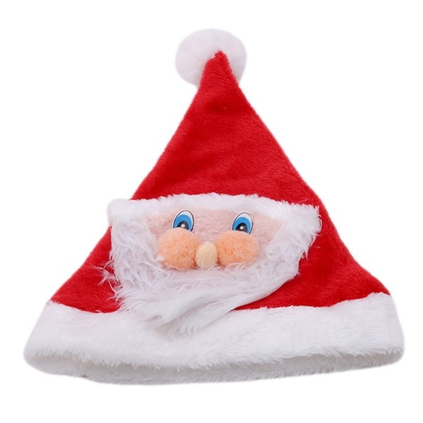 2018 Red Christmas Hat Santa Claus Hat Xmas Creative Caps Christmas Tree Ornament Household Party Ornaments