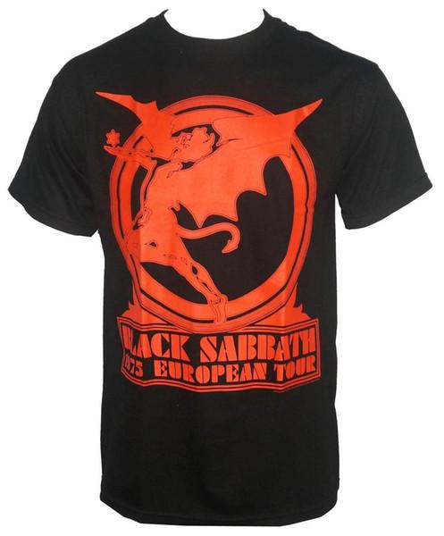 Authentic BLACK SABBATH Europe Tour 75 Maglietta S M L XL XXL Ozzy NOVITÀ