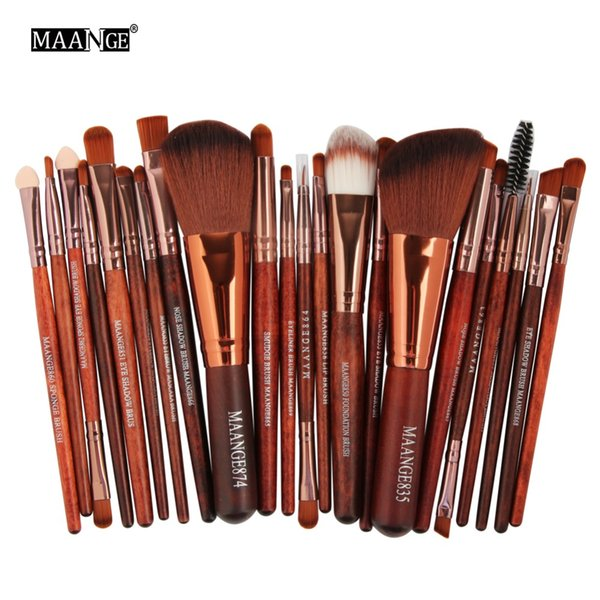 MAANGE Pro 22Pcs Makeup Brushes Set Comestic Powder Foundation Blush Eye Shadow Eyeliner Lip Beauty Make Up Brush Tool Maquiagem