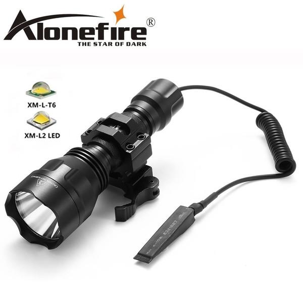 AloneFire C8s CREE XM-L2 LED 5-Mode Tactical flashlight High Quality Lanterna LED Lamp Torchlight 18650 hunting