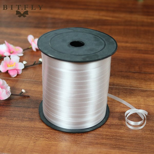 ed ribbon roll 250 Yards Balloon Ribbon Plastic roll for crafts Wedding birthday party Gift Wrapping Christmas cake Decorations red pink ...