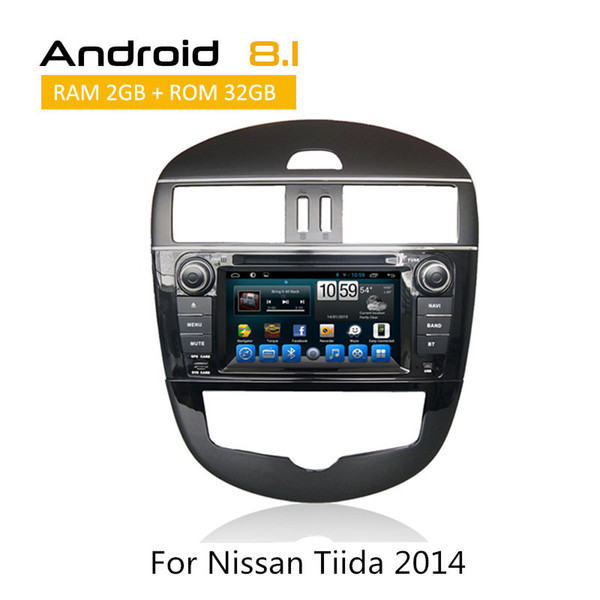 2 Din Auto Radio For Nissan Tiida car DVD Car Player With GPS Navigation AUX Bluetooth SWC 3G RDS Rear View Camera