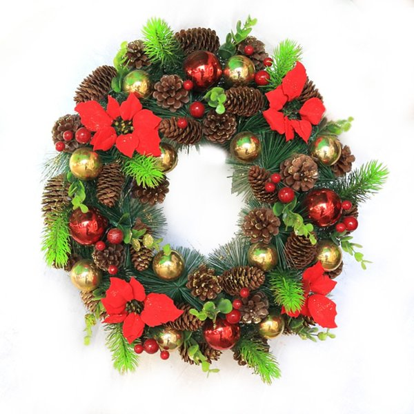 New 9Pcs/lot Christmas Gift Xmas Tree Ornament Hanging Balls Pine Cones Christmas Decoration For Home Navidad Decoration Y18102609