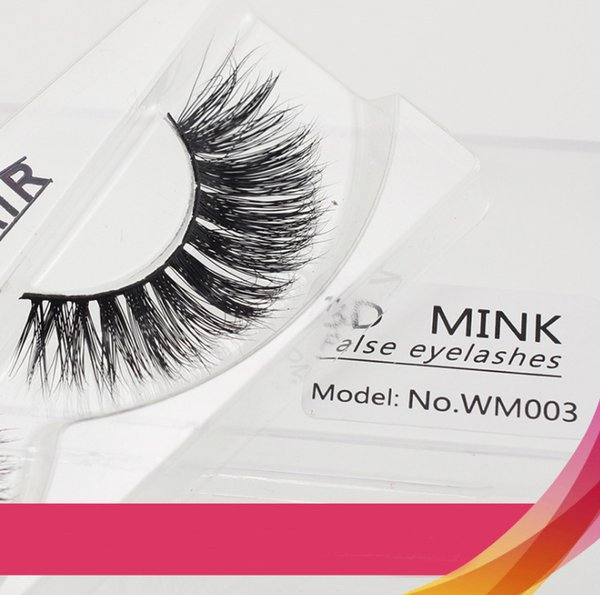 New Arrival High Quanlity 3D Real Mink Lashes Black Cotton Terrier Multilayer Soft Thick False Eyelashes 1 Pair Pure Handmade Lash extension
