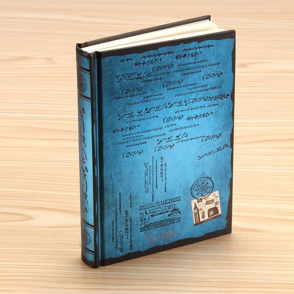 Nuevo 1 PC color Bule Retro Vintage Cuaderno Diario Diario Sketchbook Cubierta dura Grueso en blanco