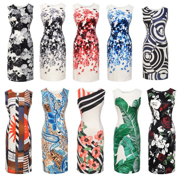 Women's Clothing 2019 summer fashion vintage black plus size Street Style party bodycon dresses pencil dress for womens women clothes #723