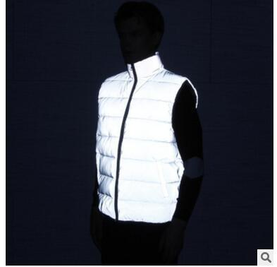 top popular The new winter full reflective feather cotton vest and outdoor sports hip-hop SC night safety vest 2019