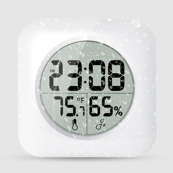 Großhandel Weiß Wasserdichte Digitale Badezimmer Dusche Hängen Uhr LCD  Display Saugnapf Wanduhr Temperatur Thermometer Hygrometer AAA626 Von ...