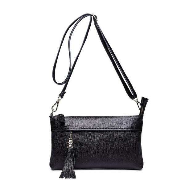 Genuine Leather Handbags For Women Envelope Clutch Bag Cow Skin Messenger Bags Flap Shoulder Bags Crossbody For Women Purse