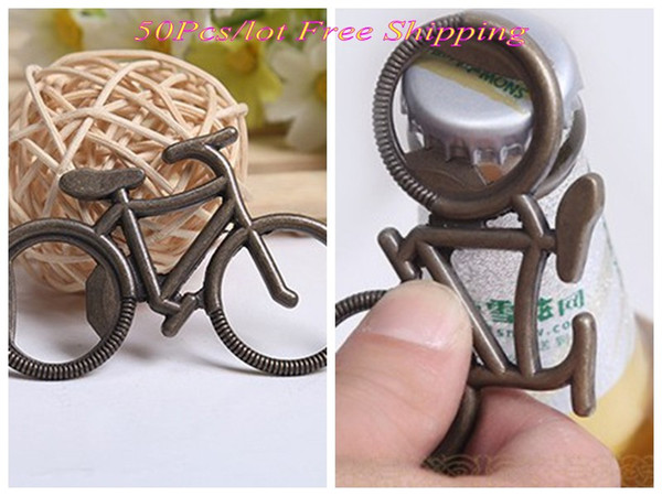 (50 Pieces/lot) Unique wedding giveaway gift of Antique Bicycle Bottle Opener party Favors for wedding decorations souvenirs