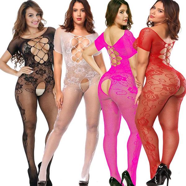 Femmes Sexy Lingerie Plus Taille Chaud Sous-Vêtements Érotiques Babydoll Résille Vêtements De Nuit Sex Costumes Lenceria Erotica Mujer Sexi