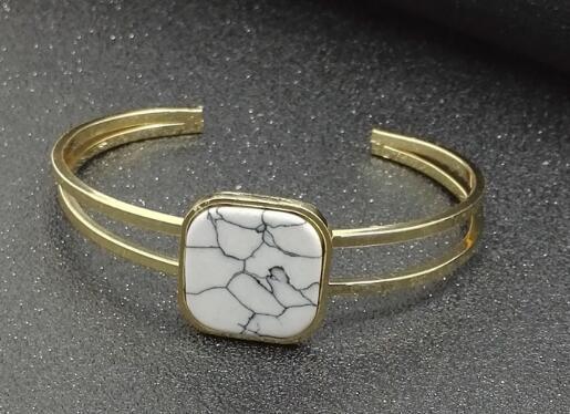 stile caldo naturale turchese bianco treppiede enchased anello di rame braccialetto testata in grado di regolare la moda classica eleganza squisita