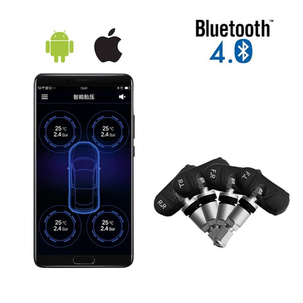 Vantrue TPMS Tire Pressure Monitor System Wireless Bluetooth Connect with Free App for Android IOS Auto Security Alarm System
