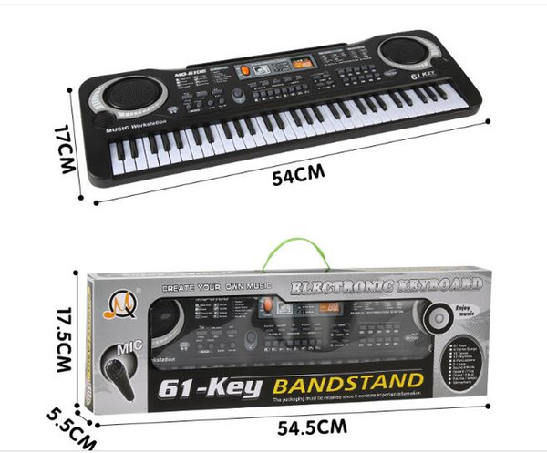 48f2e04f61b 1pc Multifunction 61 keys Early Education Music Electronic Keyboard With  Mikephone Kid Piano Organ Record Playback with Retail pack