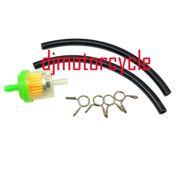 6mm Gas Fuel Filter Pipe Hose Line With 4 Clips Motorcycle Pit Dirt Bike