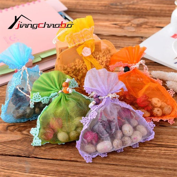Wholesale- Lovely Fresh Air Scented Fragrance Home Wardrobe Drawer Car Perfume Sachet Bag New