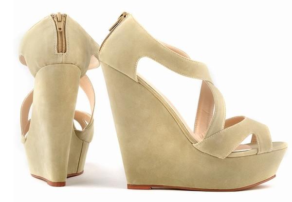 red pink color size 35-42 high heel platform wedge heel women shoes ladies sandals 469