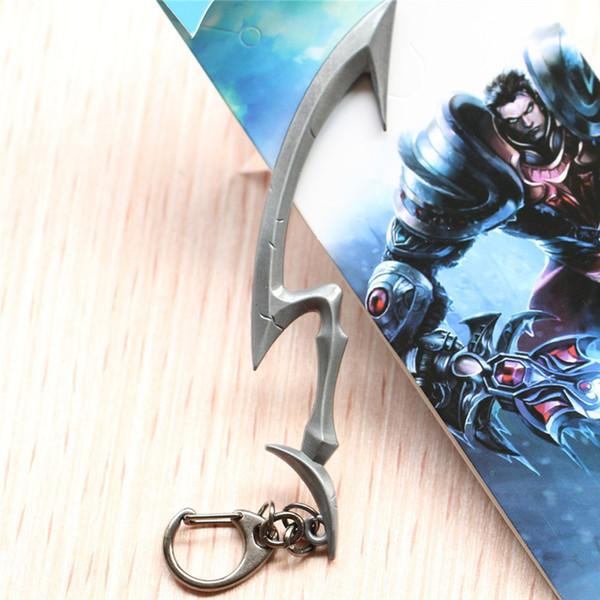 LOL League Legends Diana Scorn of the Moon Weapon Models Alloy Keychain Keychains Pendant 12cm