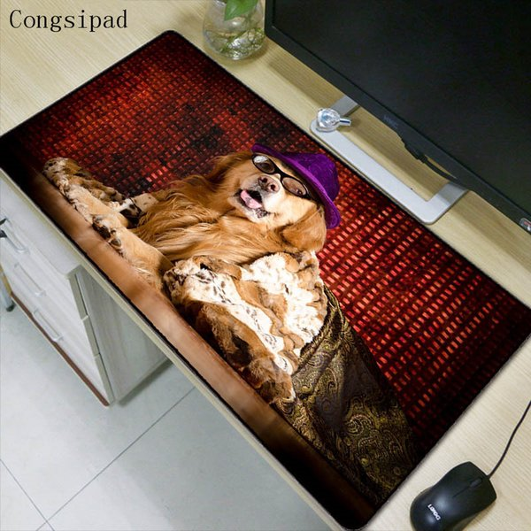 27ae18405b19 Congsipad Animal Dog Large Gaming Mouse Pad Lockedge Mouse Mat For Laptop  Computer Keyboard Pad Desk For Dota 2 LOL Mousepad Best Mouse Wrist Rest ...