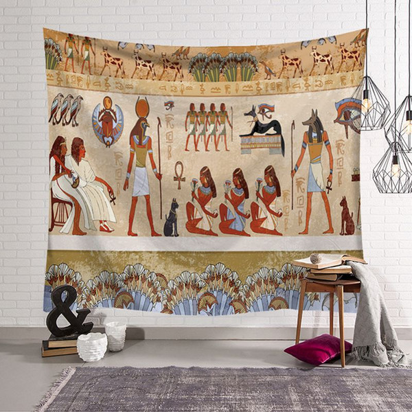 ancient Egyptian decor retro ethnic wall hanging carpet decorative tapestry tenture mural show piece for home office