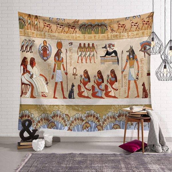 Antigua decoración egipcia retro étnico colgante de pared alfombra tapiz decorativo tenture mural mostrar pieza para oficina en casa
