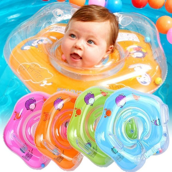Inflatable Baby Neck Swim Ring infant Swimming accessories swim neck baby tube ring safety Life float Vest 2018 New