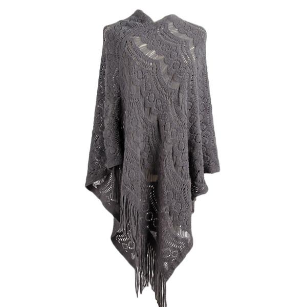 Nappe scamosciate nappe donna mantello scialle poncho moda calda e mantelle poncho in maglia tinta unita invierno mujer