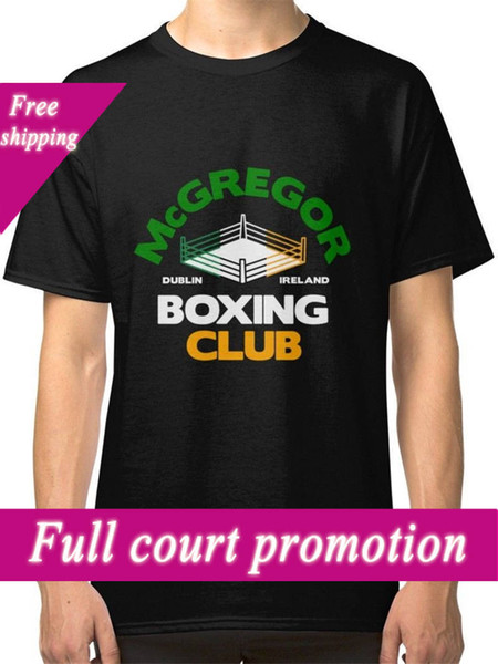 Creative Printed T Shirt Tee Crew Neck Short-Sleeve Graphic Mcgregor Boxinger Club Tees For Men