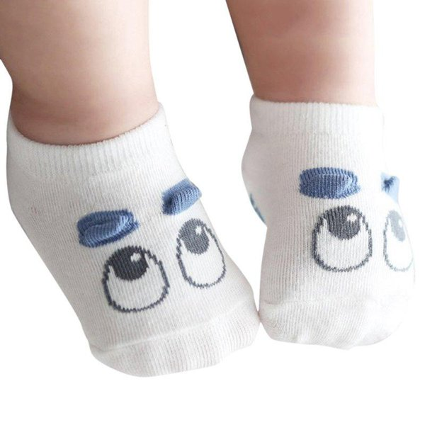 1 Pair Newborn Socks Baby Boy Kid Girls Infant Cute Eye Crib Warm Shoes Sox 0-3T X56