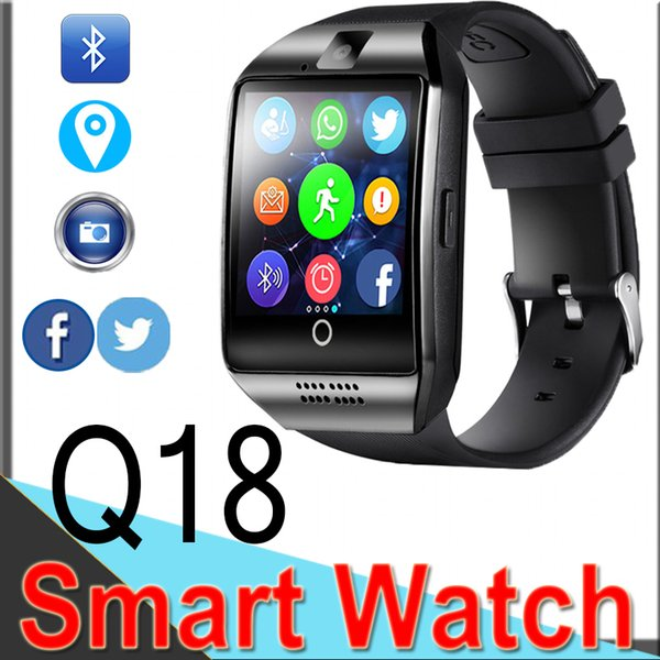 Q18 Smart Watches Bluetooth Smart Band for Android Cellphones Support SIM Card Camera Answer Call and Set up Various Language withBox XCTQ18