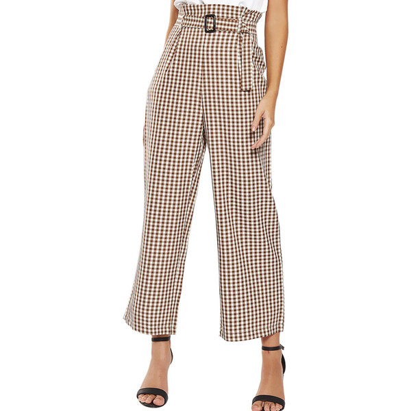 2018 Cotton Casual Loose Special Offer Sale Pantalon Mujer Palazzo Pants High Waist Printing The Wide Leg Pants Trousers Woman