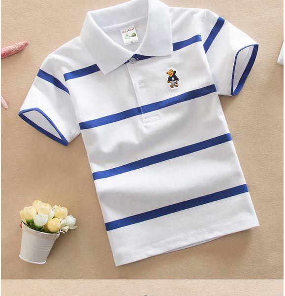 Baby Boy Ropa para niños Ropa para niños Ropa polo para niños Camiseta de manga corta Versión coreana 0-15 años Viento de la universidad