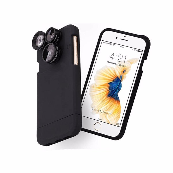 New Mobile Phone Lens Combination 4 in 1 Clip On Fisheye Camera Lens+Wide Angle+Macro+2x Zoom For iPhone 6 6 PLus 6s 6s Plus