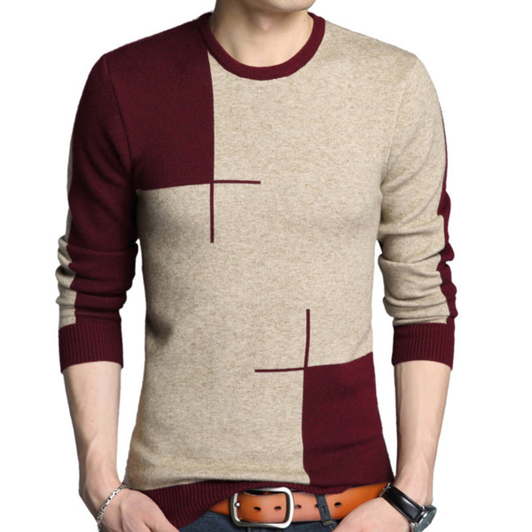 new fashion autumn and winter men thick warm sweaters o neck wool casual sweater men clothing knitte knitting mens pullover, White;black