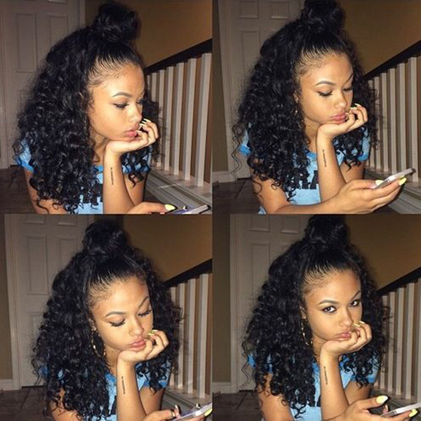 Beaudiva 150% densité avant de lacet perruques de cheveux humains 4 * 4 lacet perruques frontales brésilien Cyrly Remy cheveux
