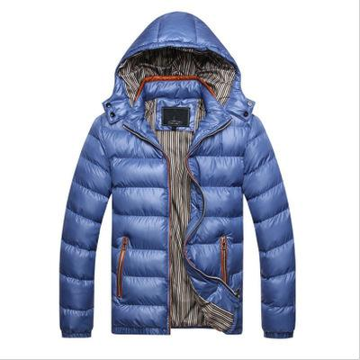 Autumn Winter Hooded Jacket Men Parka Quilted Padded Wadded Windbreaker Male Mens Jackets And Coat Parkas Overcoat High Quality for Men