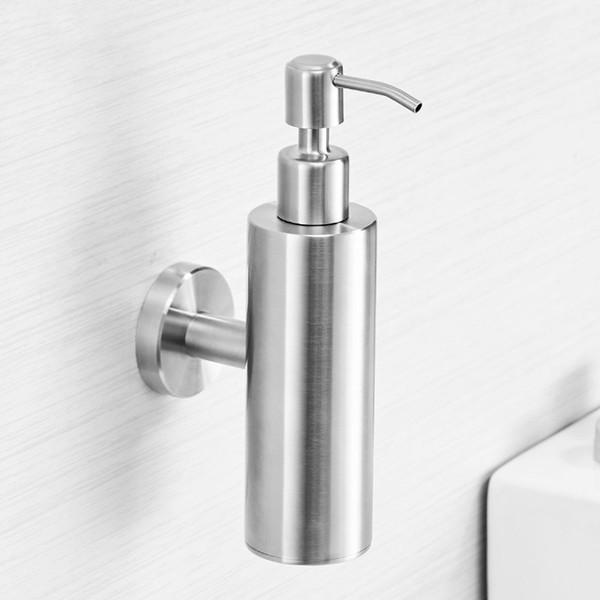 Dispensador de Sabonete Líquido Escovado Níquel Acessórios Do Banheiro Sabão de Aço Inoxidável Dispensador de Sabão Do Chuveiro Da Bomba Garrafa