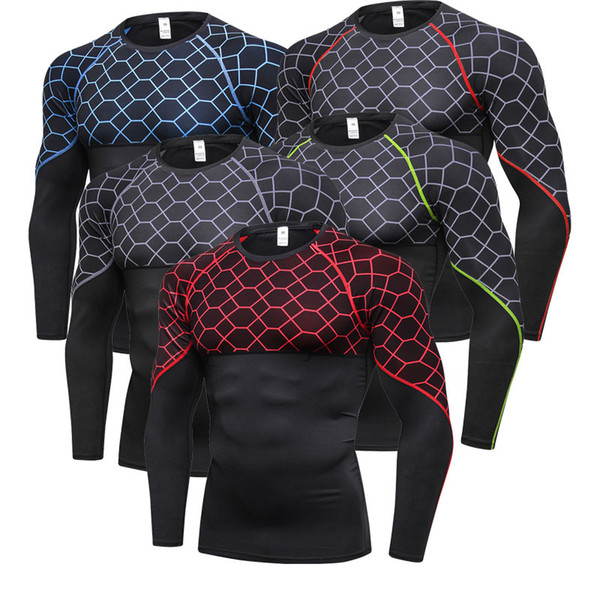 Séchage rapide en cours d'exécution T-shirt Hommes Fitness Tight Sport Shirt Hommes Gym Vêtements Bodybuilding Rashgard Hommes T-shirt pour le sport